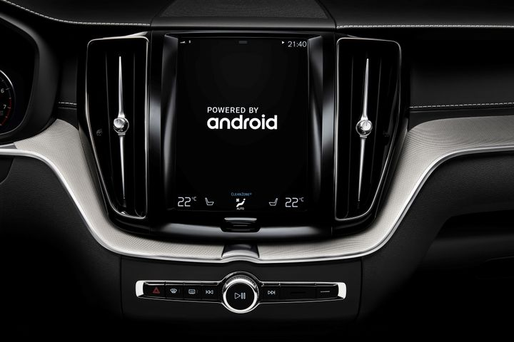 Photo of Android-powered infotainment system courtesy of Volvo.