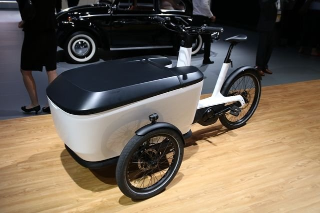 Volkswagen introduced this e-bike, which is battery-electric and designed as a...