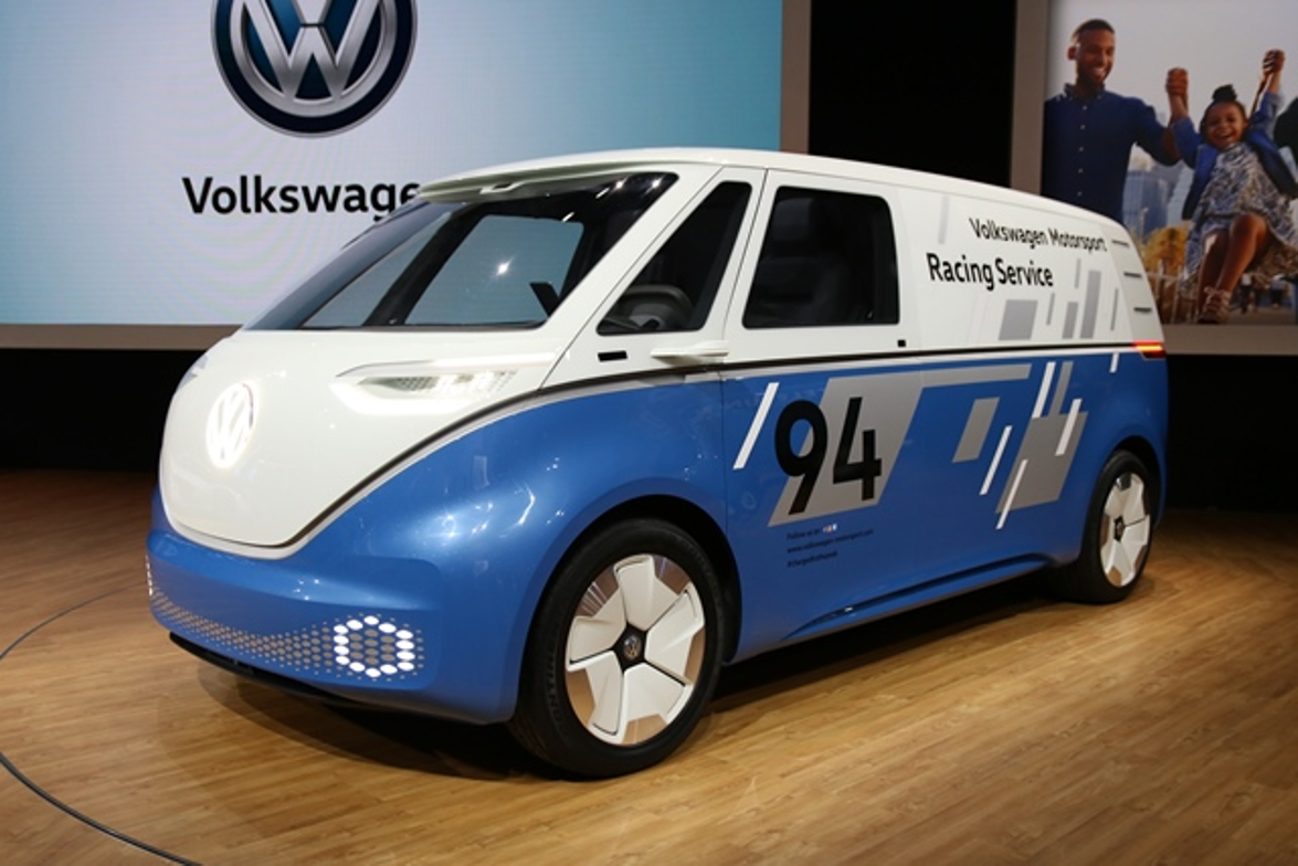Volkswagen showed a cargo version of the I.D. Buzz concept van. A passenger version of the van...