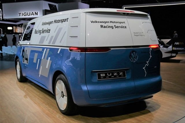 The I.D.BuzzCargois battery-electric and designed to meet growing delivery needs fromthe...
