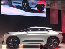 Mitsubishi North America President Fred Diaz unveiled the E-Evolution concept vehicle. With an...