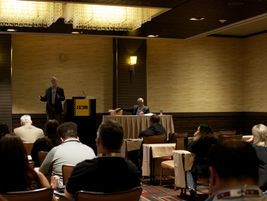(l-r) Jim Noble of eDriving and Lamont Boyd of FICO discussed how prior driver behavior can...