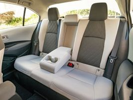 Because of the extra interior and cargo space the hybrid Corolla can accomodate 60/40...