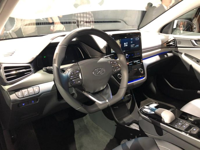 The Ioniq Electric Limited will offer a 10.25-inch touchscreen to display map and vehicle operating data. - Photo by Chris Wolski.
