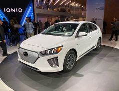 The Hyundai Ioniq Electric will increase its range by 46 miles to 170 on a charge for 2020....