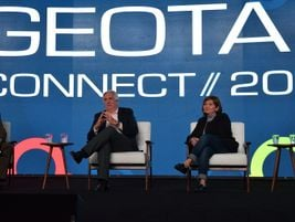 Mike Antich (left), editor, Automotive Fleet, moderated a fleet manager fireside chat that...