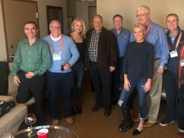 Mike Antich (fourth from left), editor, Automotive Fleet, with the EnVue Telematics team, a...