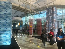 Pictured is the conference expo hall. There were approximately 1,500 attendees at the Geotab...