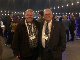 Mike Antich (left), editor, Automotive Fleet with Jeff Sechler, international fleet operations...
