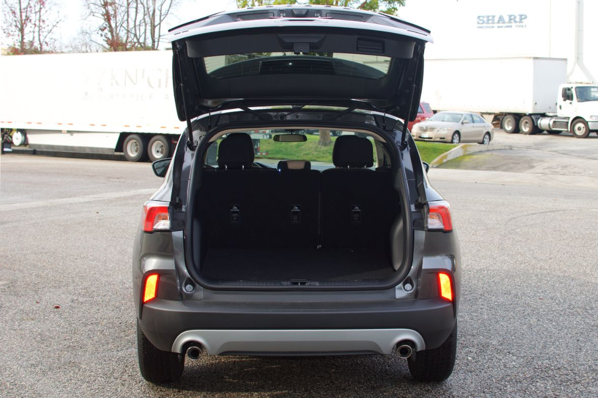 With the seats folded up, the Escape offers 33.5 cu.ft. of cargo space.