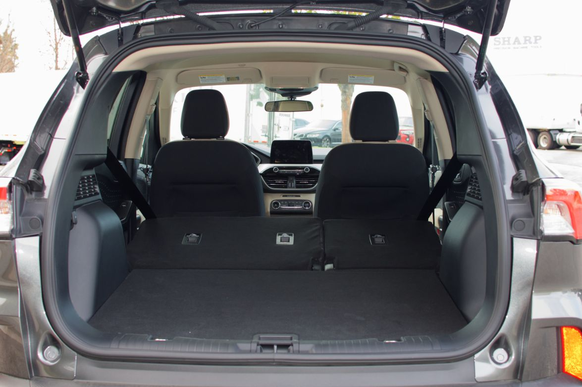 With the seats folded down, the Escape offers 65.4 cu.ft. of cargo space.