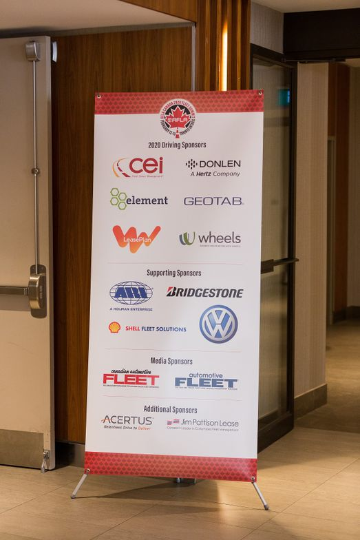 Sponsors of the inaugural AFLA Canada Fleet Summit included fleet management companies,...