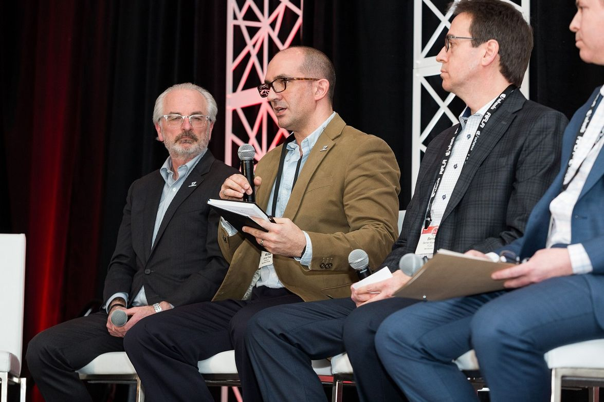 The Order-to-Delivery Issues session included speakers such as Jeff Hartley, president of Foss...