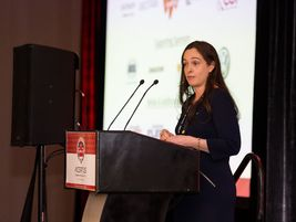 Katie Keeton, AFLA president, provided opening remarks at the AFLA Canada Fleet Summit.