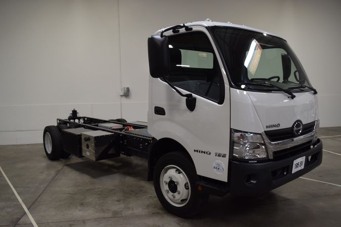 On display at SEA Electric's Torrance, Calif. facility was its Sea Hino 195 Electric Vehicle....