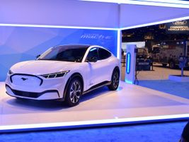 Ford also displayed its all-new Mustang Mach-E electric SUV, which will be available with...