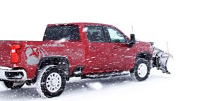 Plowing Snow with a 2020 Silverado 2500HD and 3500HD