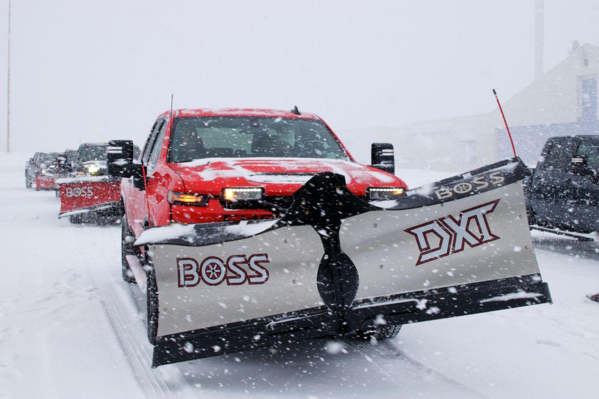 "Boss offers straight, expandable, ""V"", and rear plow configurations. The DXT plow offers a dual..."