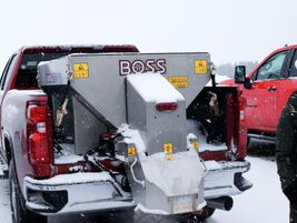 Boss also brought some of its other equipment, such as the Boss Forge 1.5 salt spreader.