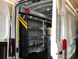 The Ford Transit 350HD Caro Van has a 61 MPGe/EPA City and 66 MPGe/EPA Highway rating, and is...