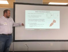 Michael Johnson, technical account manager for Lightning Systems, gave a presentation on what it...