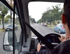 An AF editor test drives the Ford Transit 350HD Passenger Van, which has a maximum speed of 65...