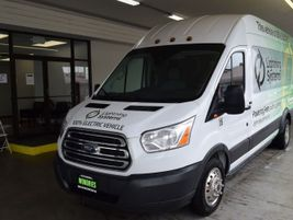 The LightningElectric Ford Transit 350HD Passenger Van is available in 60-mile and 120-mile...