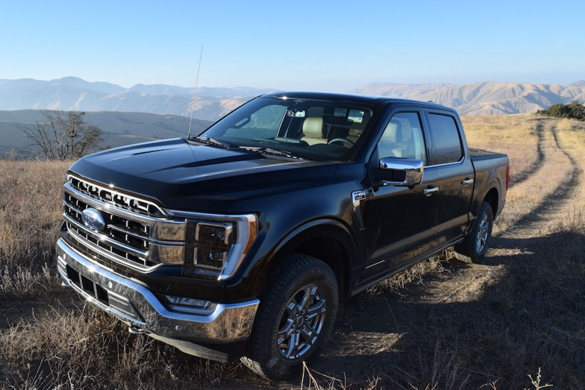 The 2021 F-150 4x4 Supercrew (pictured) equipped with the 3.5L PowerBoost Full hybrid engine...