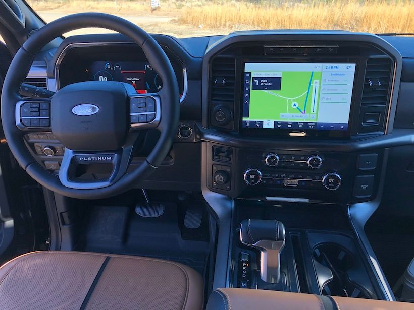 The 2021 F-150 also introduces an all-new 12-inch center screen – standard on XLT high series...