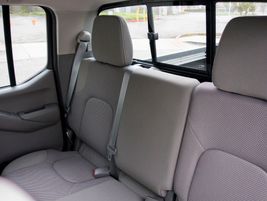 This Frontier SV crew cab can seat four adults comfortably.