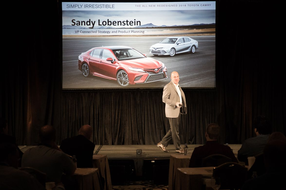 Sandy Lobenstein, VP of connected strategy and product planning with Toyota