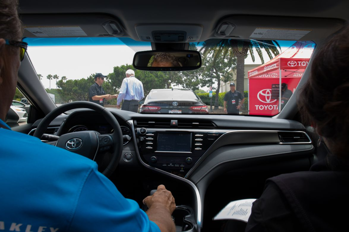 Toyota's Mark Johnson driving the 2018 Camry