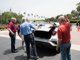 C-HR XLE with Toyota's Bill Burris (in red Polo shirt)