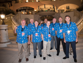 Toyota's Scott Witt, Mike Lureau, Mike Baessler, Mark Johnson, David Herb, Bruce Derby, Scott...