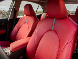 Leather-trimmed seats area heated and provide 8-way adjustment with lumbar support.