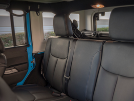 The Wrangler can seat four adults comfortably.