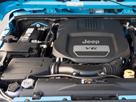 The Wrangler is powered by a 3.6L V-6 that makes 285 hp and 260 lb.-ft. of torque.