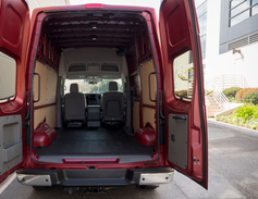This van provides 323 cubic feet of cargo volume.