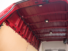 Three interior lights help illuminate the cargo, especially for evening and nighttime deliveries.