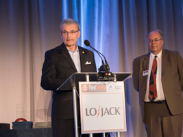 Jack Hanley (left), the executive director of the Network of Employers for Traffic Safety...