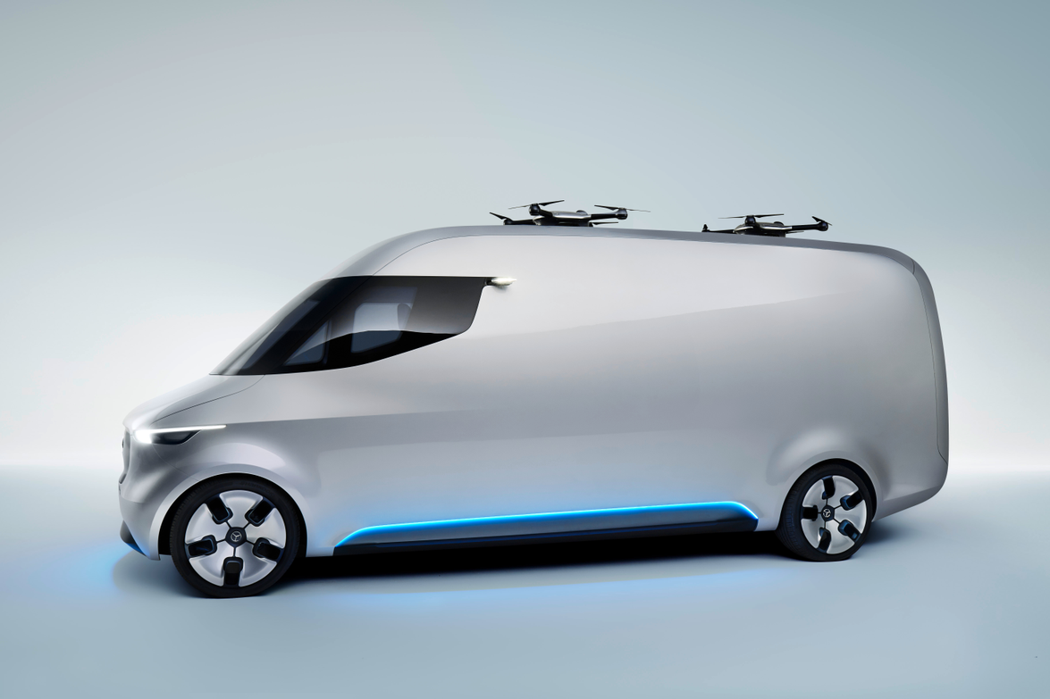 The van uses an electric drive system that's emission free and virtually silent.