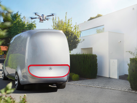The drones drop off the parcels and return to the Vision Van at one of its next stops.