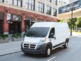 Ram offers the ProMaster City and full-size ProMaster (pictured) vans for 2018, which feature a...
