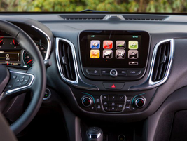 A MyLink audio system with Apple CarPlay displays on an 8-inch screen.