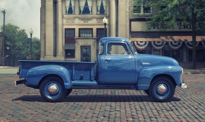 1947-1955: The Advance Design trucks, including the 3100 Series, used a five-bar horizontal...