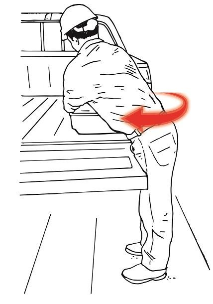 Awkward body positions increase your chance of a muscle or joint injury, and the risk is higher...