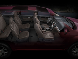 The second and third rows fold flat, providing cargo space, including the ability to carry...