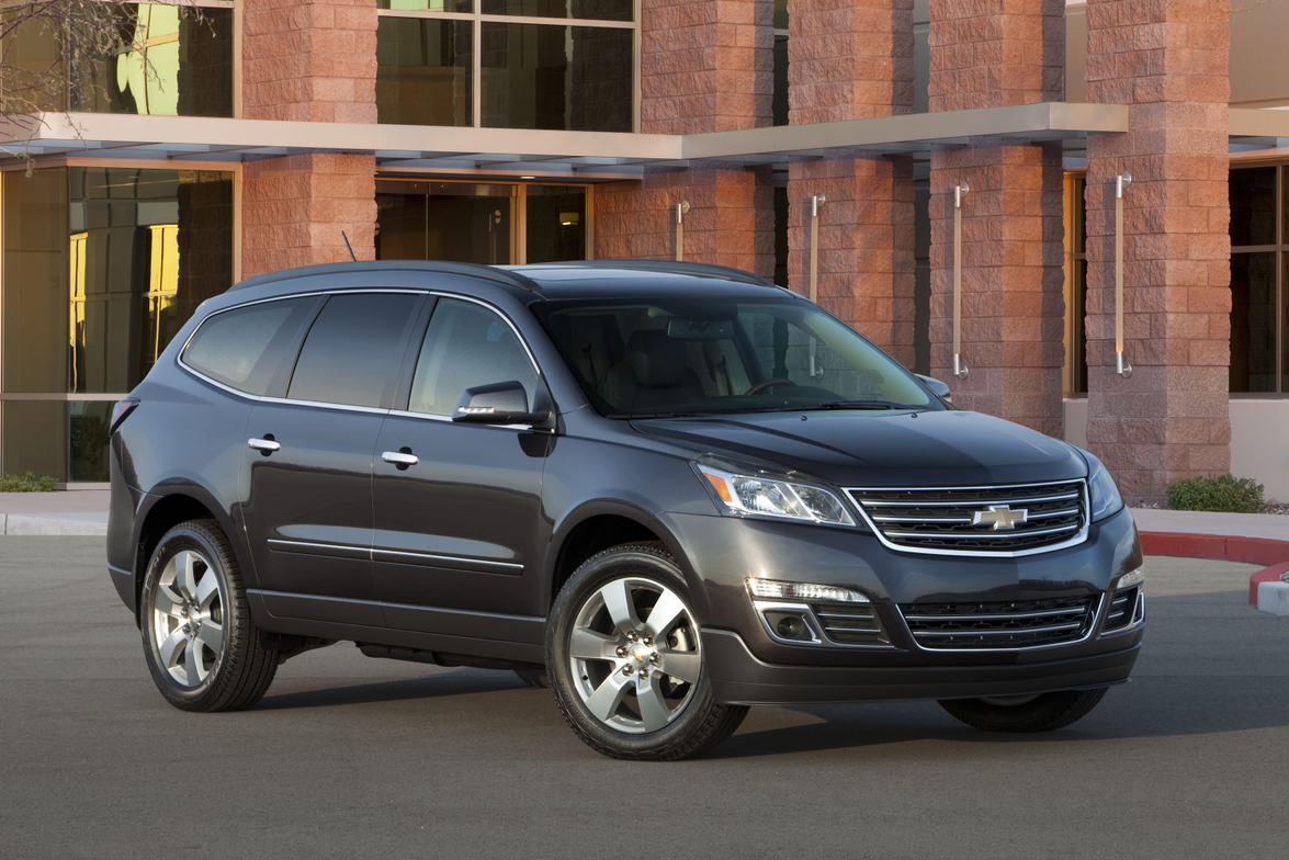 GM's new Chevrolet Traverse features a new exterior design, new interior upgrades, and improved...