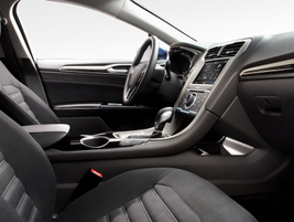 The Ford Fusion Hybrid's interior.
