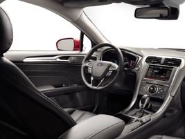 The interior of the Ford Fusion.